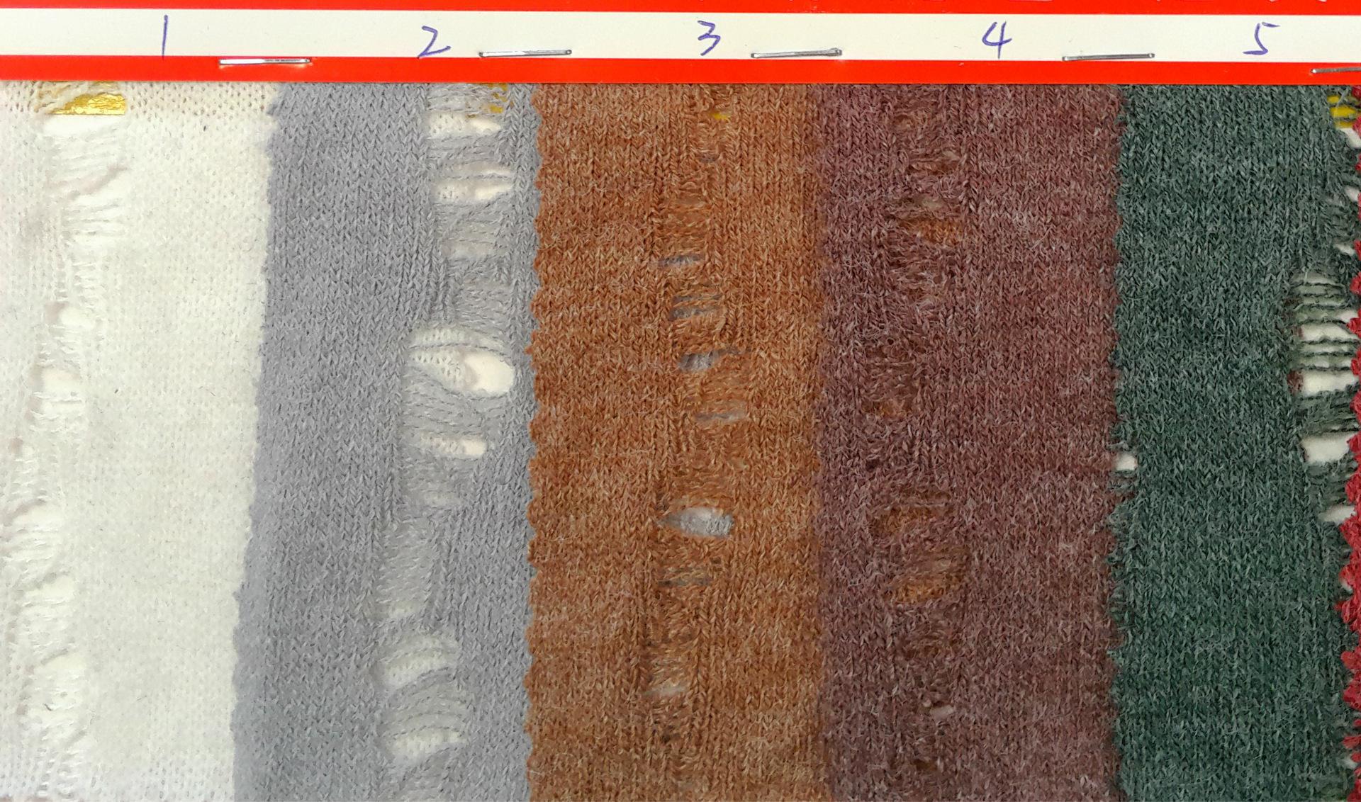 在用横机编织时引起破洞的原因和处理方法
